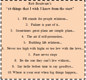 Rob Boulware's 10 Things