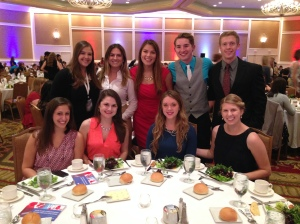 The PRSSA Exec Board representatives at the Awards Ceremony and Dinner.
